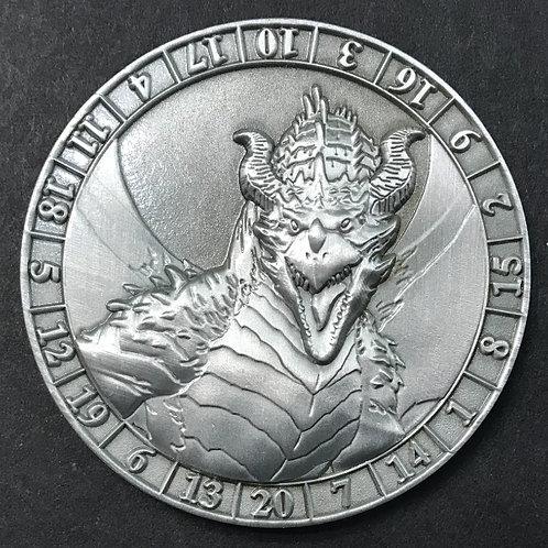 d20 Silver Dragon