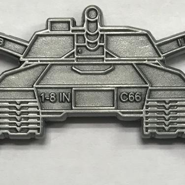 Zinc coin, custom shape, antique silver plated, no enamel