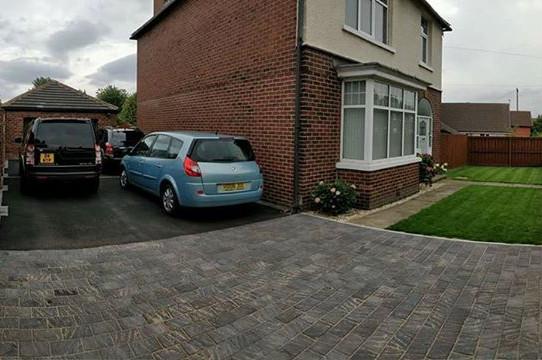Finished driveway.