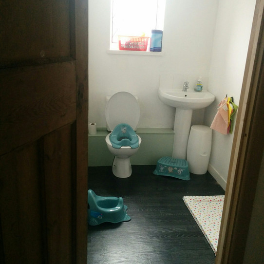 Bathroom now.