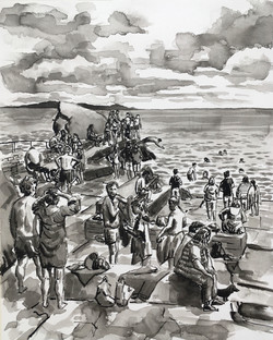 Forty swimmers and a Dachshund