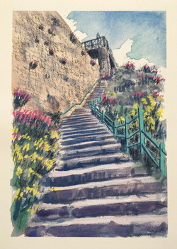 White Rock Steps