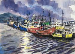 Dingle Trawlers, dusk.