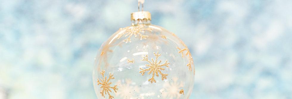 Juletrepynt - Kule snø