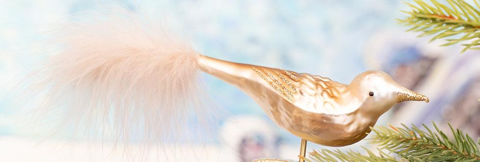 Juletrepynt - Fugl hvit