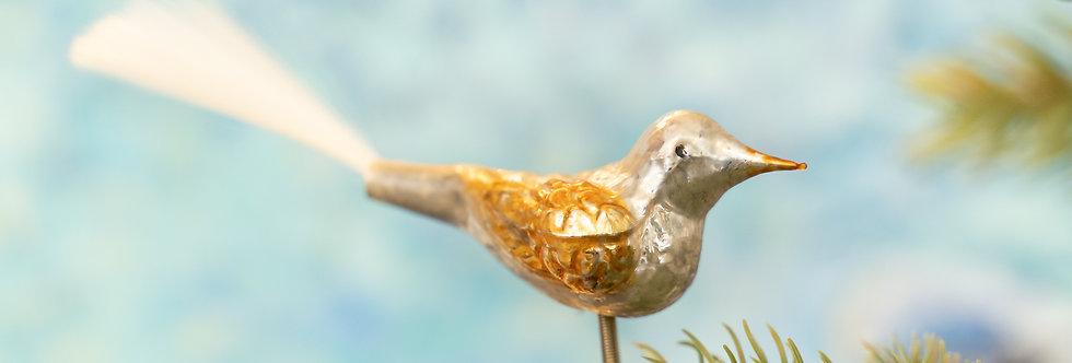 Juletrepynt - Fugl gull