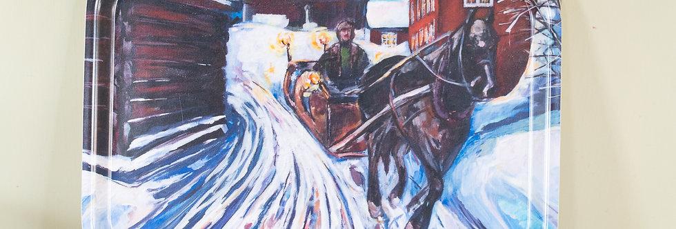 Frokostbrett - Med hest og slede fra Aasengården