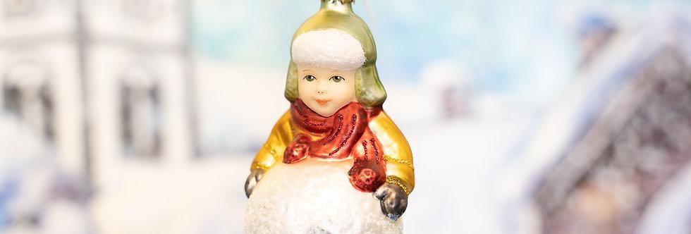 Juletrepynt - Gutt m. snøball