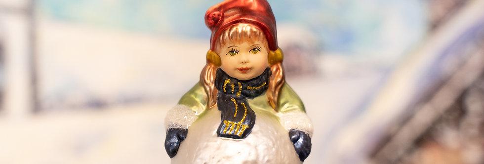 Juletrepynt - Jente m. snøball