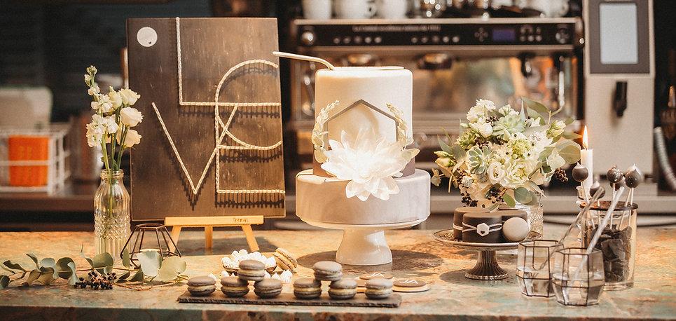 himmelrosa Hochzeitstorten Sweettable