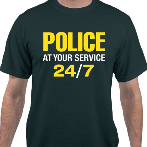 Pack of 12:  POLICE. At your service 24/7