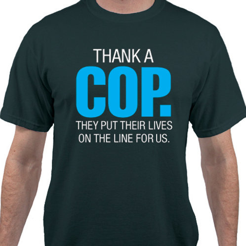 Pack of 12:  Thank a COP. They put their lives on