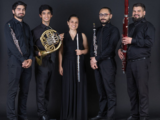 Quinteto de vientos de la OCM presenta repertorio de Piazzolla y música de Sudamérica