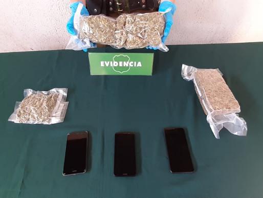 CARABINEROS DETUVO A 2 SUJETOS POR TRÁFICO DE DROGAS DURANTE UN CONTROL VEHICULAR