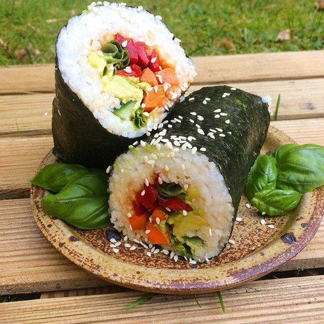 🌿When you find some leftover sushi rice