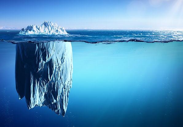 Iceberg-underwater-reflection-Stock-Phot