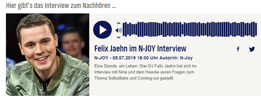 Felix Jaehn im N-JOY Interview