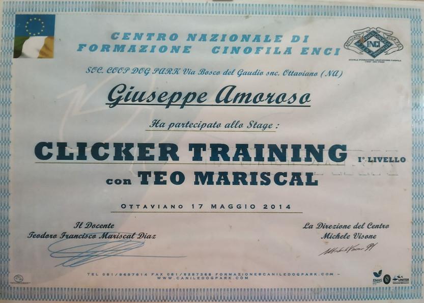 Attestato Stage Clicker Training ENCI