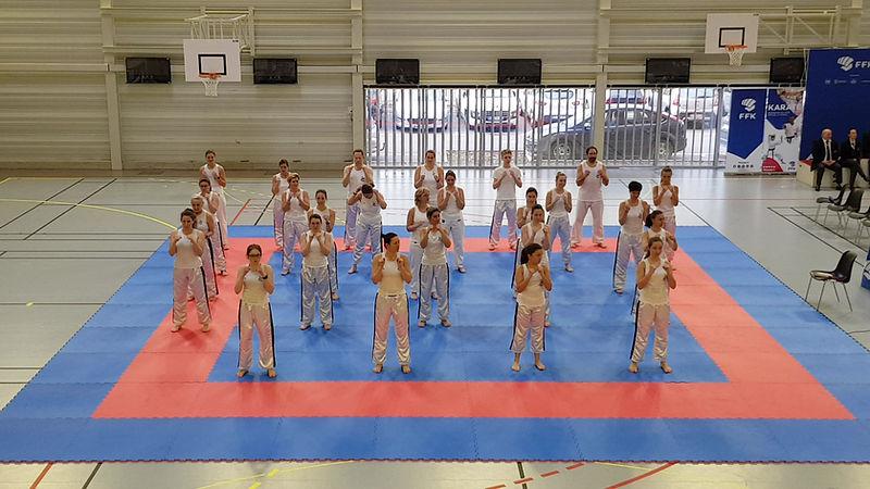 démo de body karaté championnat de France
