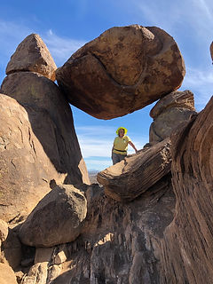Balanced Rock, Helen Hull, Big Bend