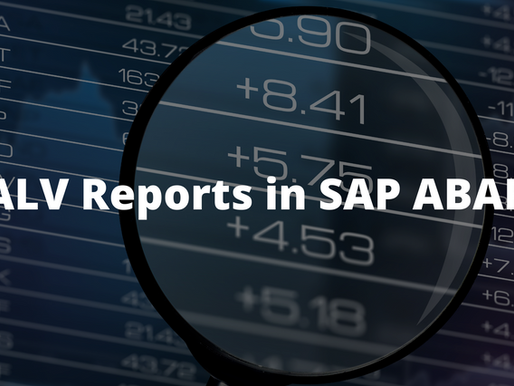 ALV REPORTS in SAP ABAP Your Way To Success