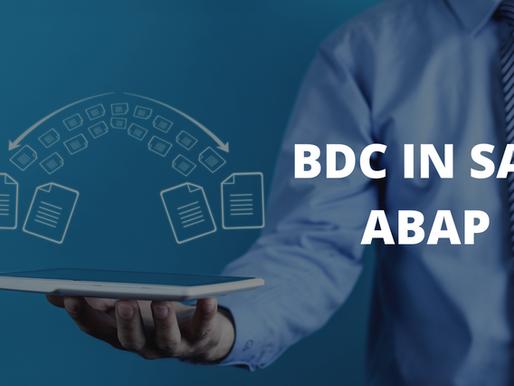 BDC in SAP ABAP Strategies For Beginners
