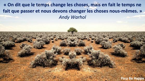 Changer les choses