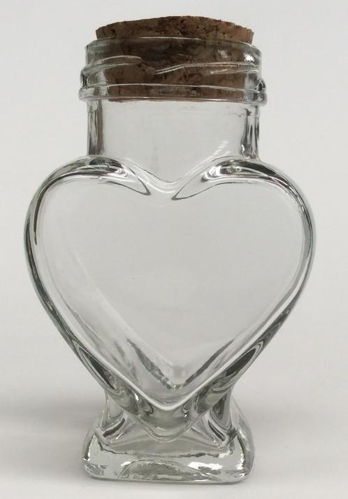 100ml Heart Shaped Jars With Corks