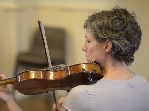 Violins rehearsing