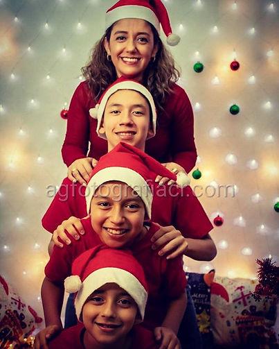 Una hermosa y muy divertida sesión navid