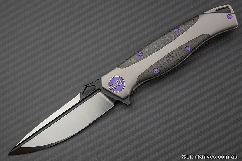 WE Knife 606CFC Tactical Folding Knife S35VN Blade Titanium & Carbon Fibre