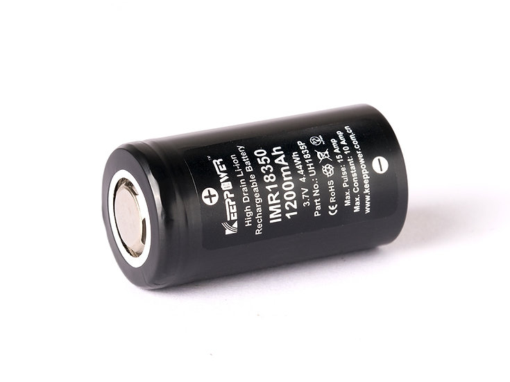 KEEPPOWER 1200 mAh 18350 3.7v Lithium ion rechargeable Batteries FLAT TOPS