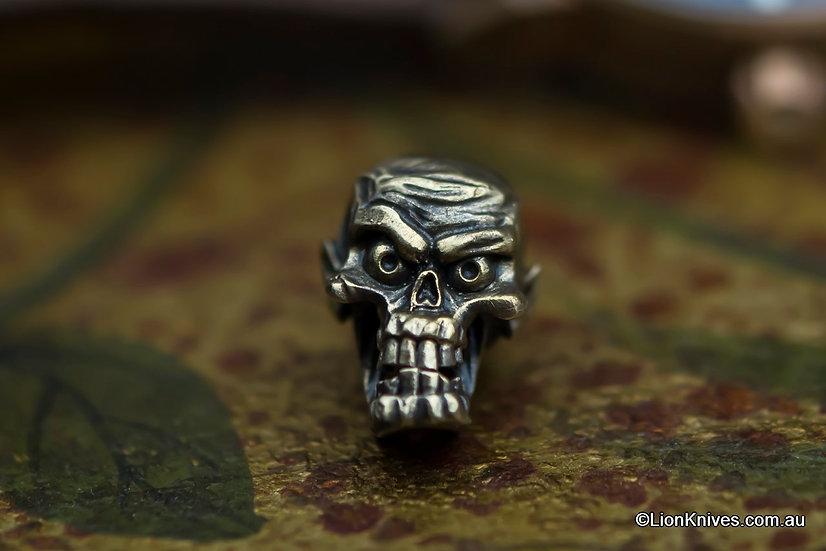 Techno Silver Factory Zombie Handmade Brass Lanyard Bead, Russia