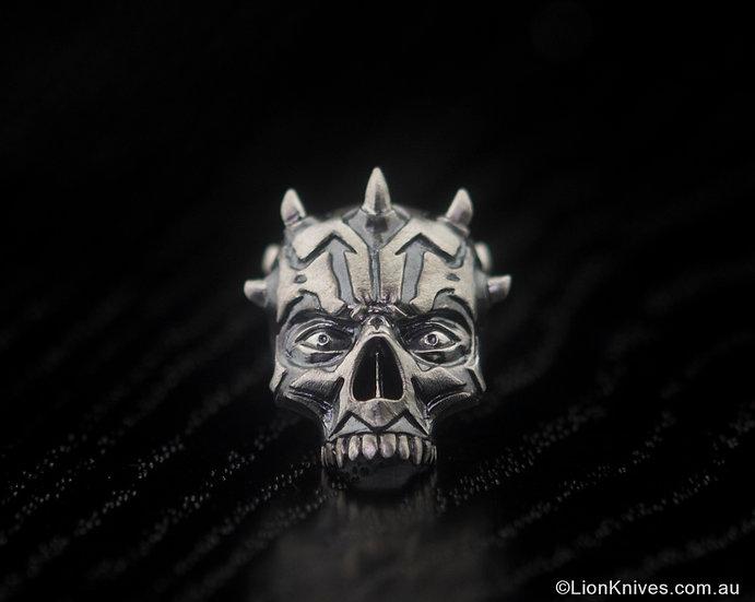 Techno Silver Art Maul Handmade Sterling Silver Lanyard Bead, Russia