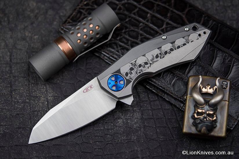 Custom Hand Engraved Zero Tolerance 0456 Folding Knife, Australian Artist