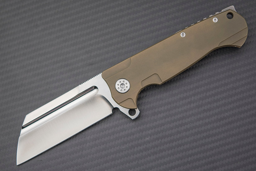 Andre De Villiers ADV Tactical Butcher Knife S35VN Blade Titanium Handle