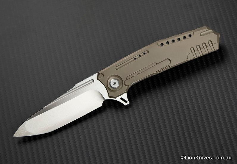 MG Knives Mother Ship Folding Knife, Titanium Handle, Bohler N690 Steel
