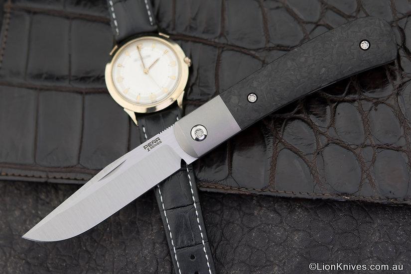 Pena X-series Trapper, Pena Trapper, Pena knives, Enrique Pena Knife, Pena Trapper knife