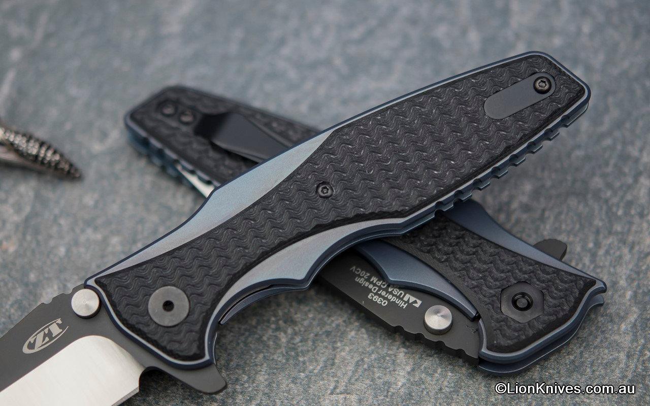 Zero Tolerance 0393 Folding Knife CPM 20CV Steel Titanium Carbon Fiber