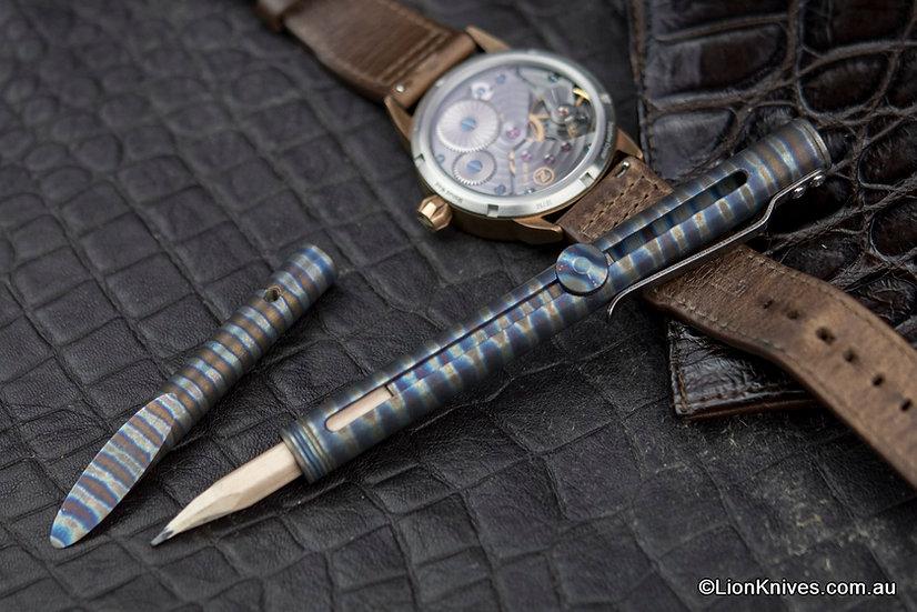 Titanium pencil, titanium edc, titanium pencil holder, pencil holder, pencil edc