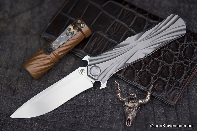 Venom Knives T-Series Dagger Style Tactical Knife M390 Blade Titanium Handle