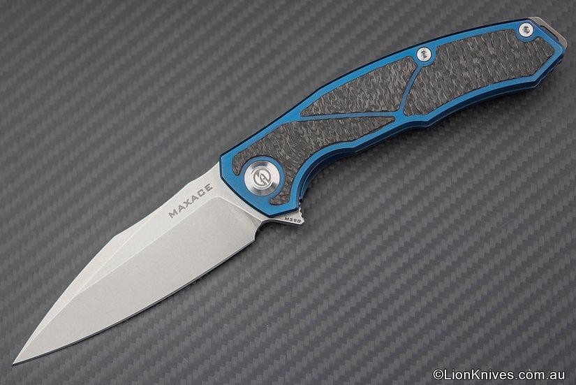 Maxace Halictus Folding Knife, Titanium & Carbon Fiber, M390 Blade