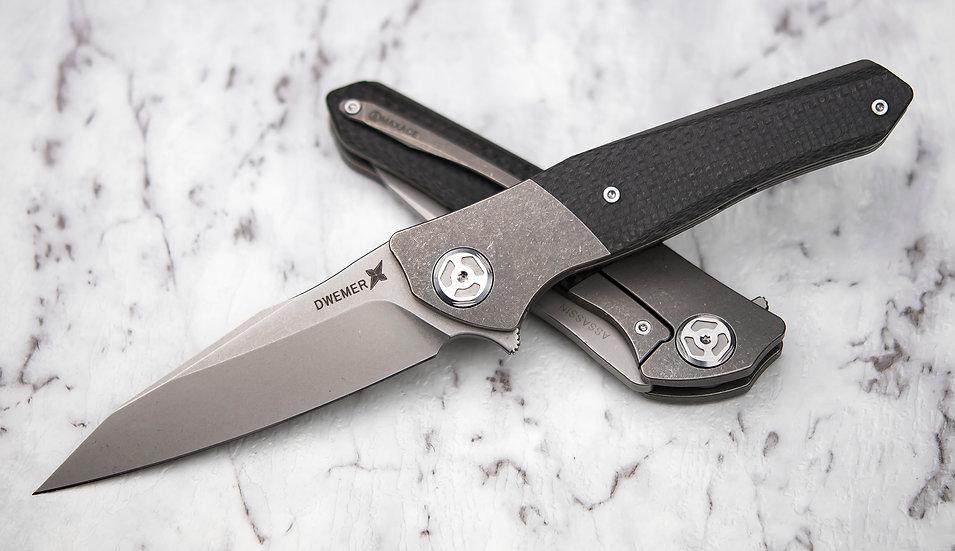 Maxace Dwemer Assassin M390, Lion Knives, Maxace Knives Australia