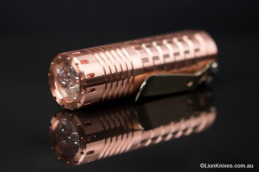 reylight copper tripple dawn, reylight copper flashlight, copper flashlight, custom flashlight, reylight tripple dawn