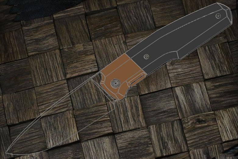 PRE-ORDER Custom Knife Factory FIF20 Knife M390, Titanium Bolster, CF Scales