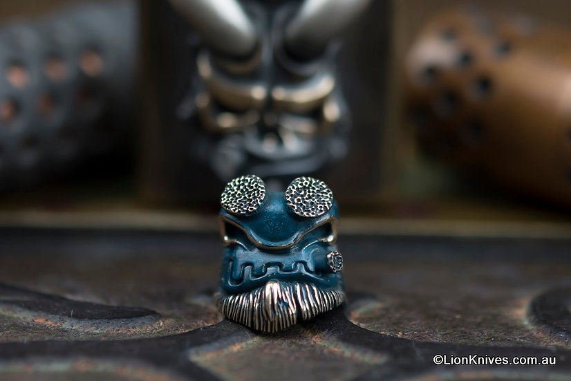 Peshkov Bead, Russian Bead, Custom bead, Apeshkov, Handmade Bead, Peshkov Mosol Hellboy, Mosol Hellboy Bead