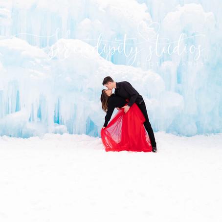 Engagement Photos Ice Castles Dillion, Colorado