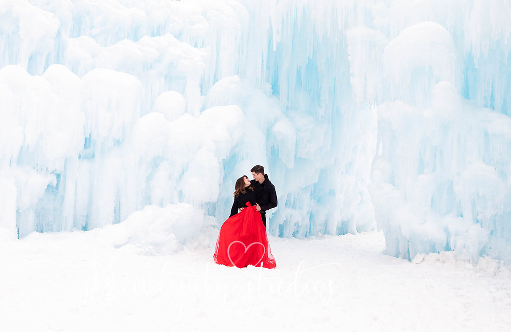 Dillion Ice castles Engagement Photography
