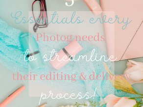 5 Essentials every photographer needs to streamline their editing & delivery process