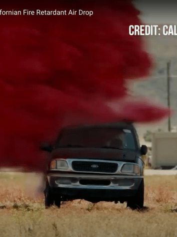 Watch A Truck Get Destroyed By California Fire Retardant Air Drop